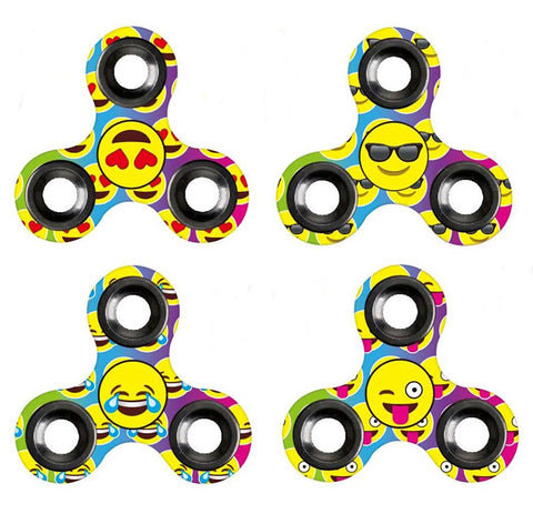 Image of Fidget Spinner Emoji Triangle Gyro Hand Spinner Finger Spinner Toy Hand Spinner Top Toy - Gadgets