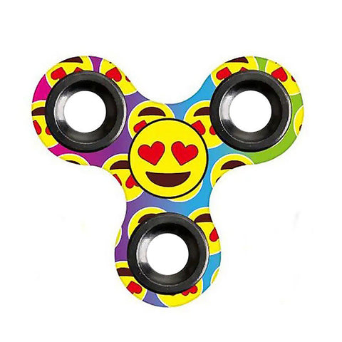 Image of Fidget Spinner Emoji Triangle Gyro Hand Spinner Finger Spinner Toy Hand Spinner Top Toy - A - Gadgets