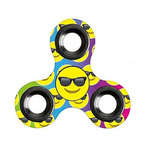 Image of Fidget Spinner Emoji Triangle Gyro Hand Spinner Finger Spinner Toy Hand Spinner Top Toy - B - Gadgets