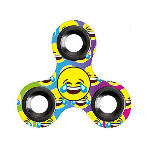 Image of Fidget Spinner Emoji Triangle Gyro Hand Spinner Finger Spinner Toy Hand Spinner Top Toy - C - Gadgets