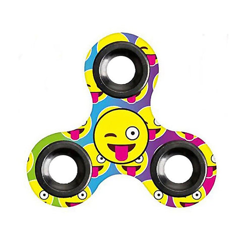 Image of Fidget Spinner Emoji Triangle Gyro Hand Spinner Finger Spinner Toy Hand Spinner Top Toy - D - Gadgets