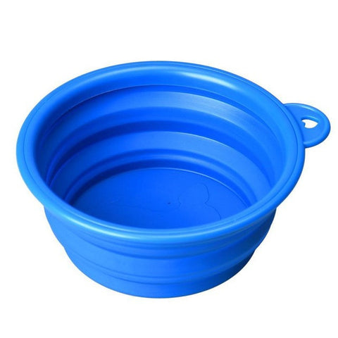 Image of Super Deal Dog And Cat Bowl - Blue - Pet Products