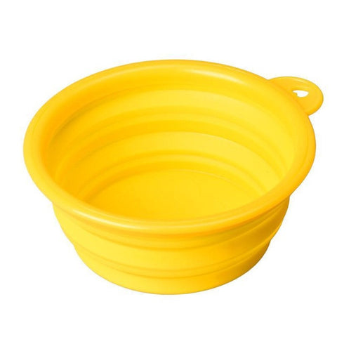 Image of Super Deal Dog And Cat Bowl - Yellow - Pet Products