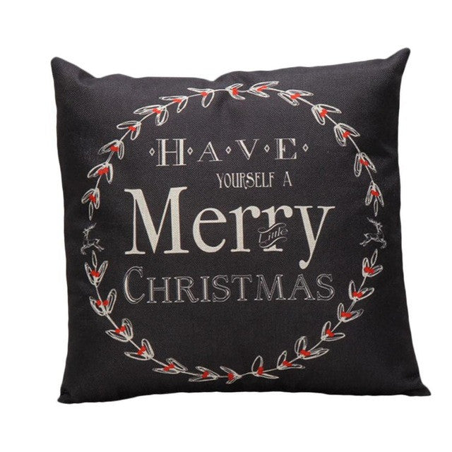 High Quality Luxury Brand Vintage Christmas Pillow - Black - Throw Pillow