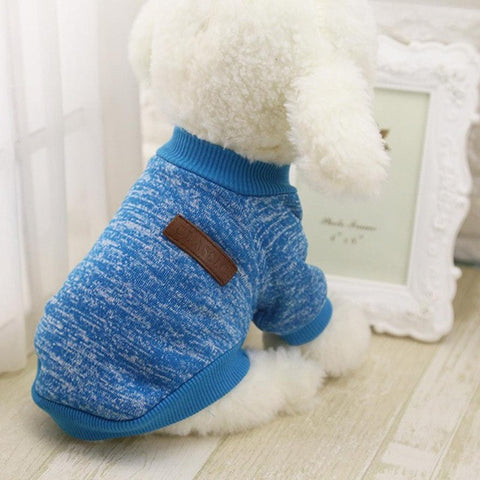 Image of Hot Sale Pet Dog Clothes For Small Dogs - Blue / L - Pet Products