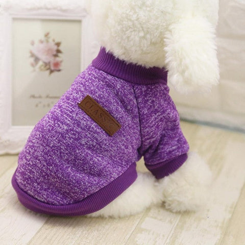 Image of Hot Sale Pet Dog Clothes For Small Dogs - Purple / L - Pet Products