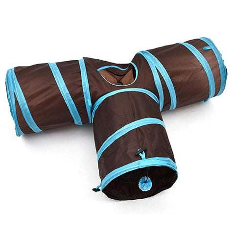 Funny T Forme Nylon Cats Tunnel Toys - Produits pour animaux