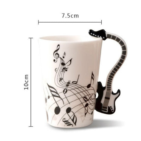 Image of Guitar Ceramic Cup - Guitar