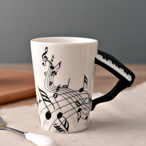 Image of Guitar Ceramic Cup - Piano - Guitar