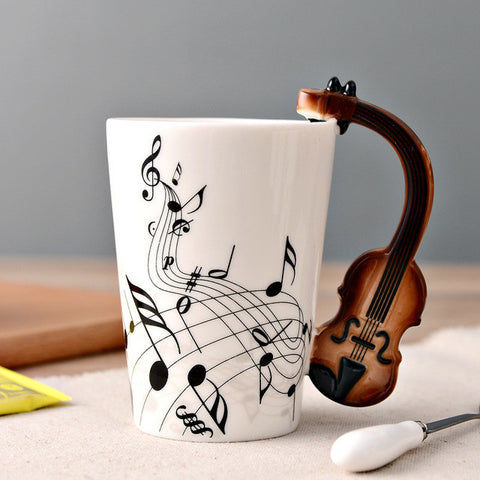 Image of Guitar Ceramic Cup - Violin - Guitar