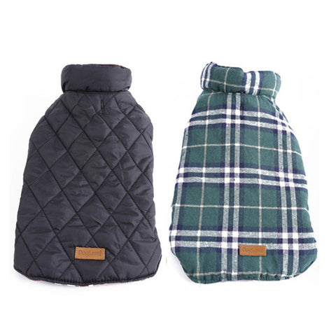 Image of Waterproof Reversible Dog Jacket - Green / Neck 28Cm - Pet Products