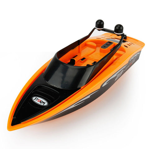 Image of Remote Control Boat Yacht Model - Electronic Toys Gift - Orange