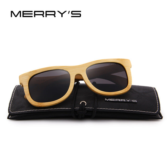 Merrys Design Bamboo Sunglasses - C01 Black - Bamboo Products