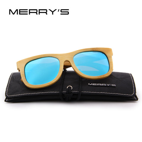 Image of Merrys Design Bamboo Sunglasses - C02 Blue - Bamboo Products