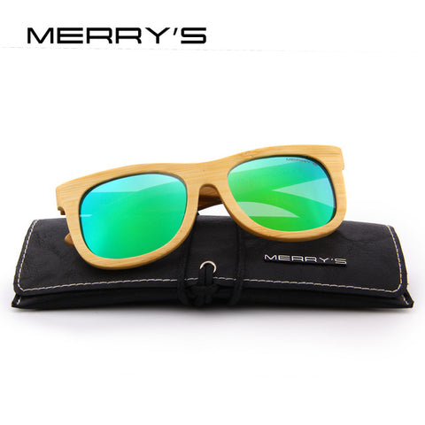 Merrys Design Bamboo Sunglasses - C03 Green - Bamboo Products