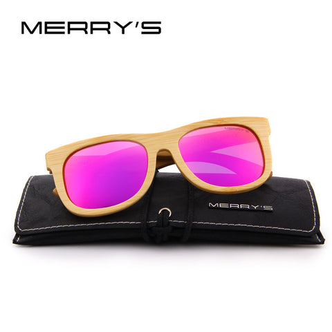 Image of Merrys Design Bamboo Sunglasses - C05 Purple - Bamboo Products