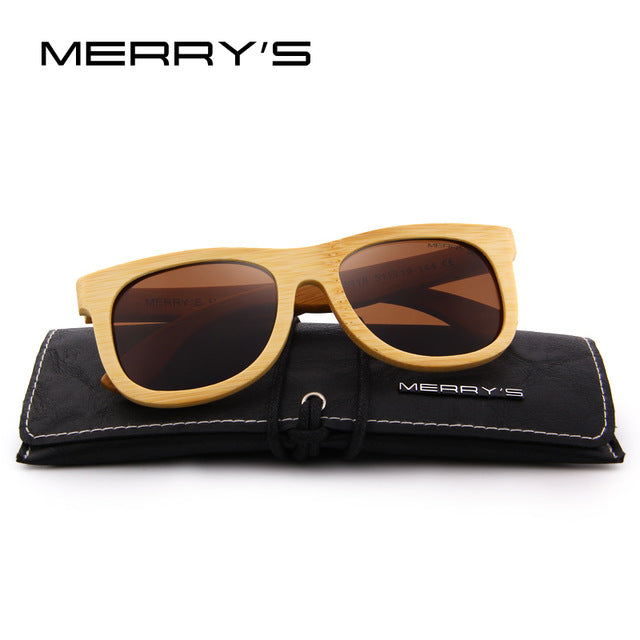 Merrys Design Bamboo Sunglasses - C06 Brown - Bamboo Products