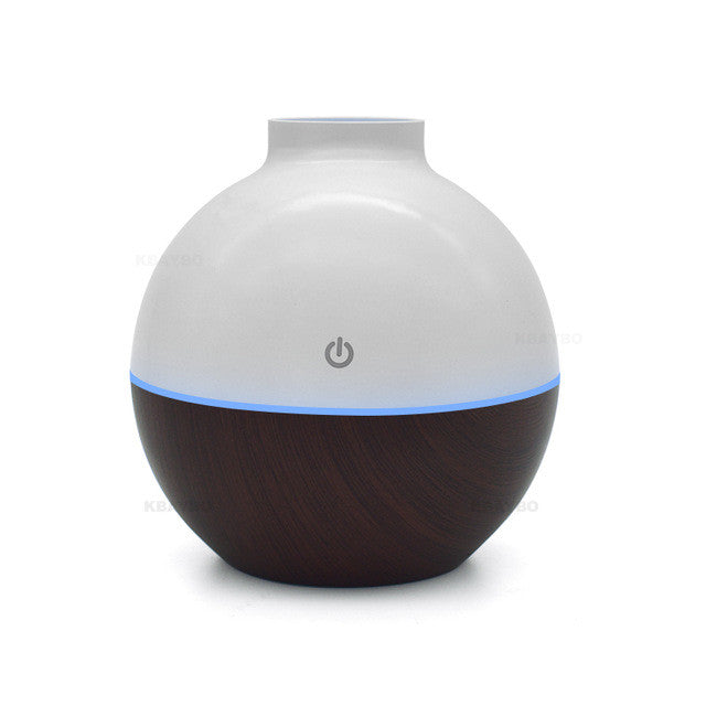 Usb Ultrasonic Humidifier 130Ml Aroma Diffuser - Dark Wood / China - Gadgets