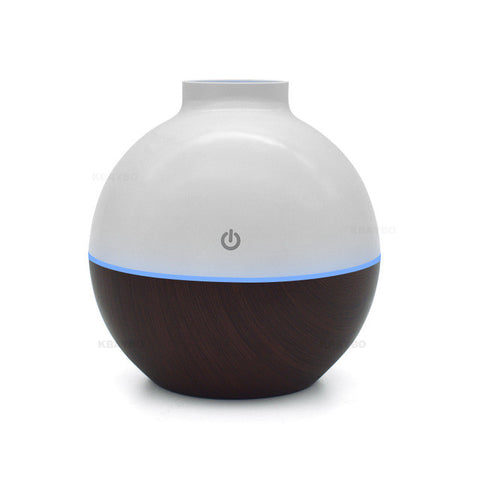 Image of Usb Ultrasonic Humidifier 130Ml Aroma Diffuser - Dark Wood / China - Gadgets