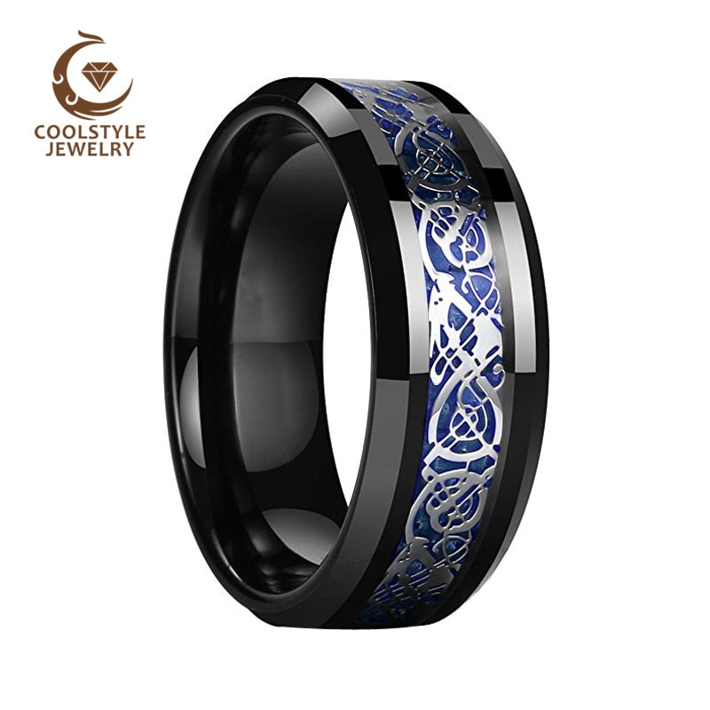 Tungsten Mens Ring - Wedding Engagement Ring - Jewelry