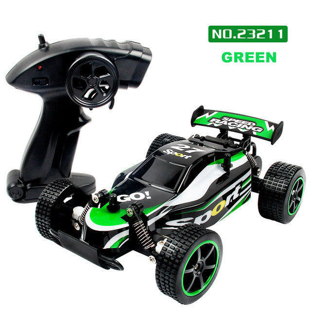 Children Rc Model Toy 1:20 2.4Ghz 2Wd Radio Remote Control Off Road Rc Rtr Racing Car Truck Toys For Children - Green - Gadgets