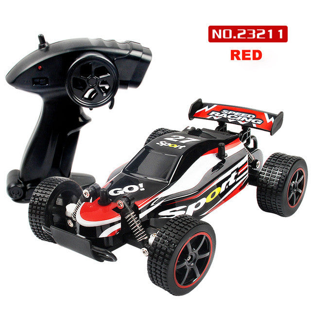 Children Rc Model Toy 1:20 2.4Ghz 2Wd Radio Remote Control Off Road Rc Rtr Racing Car Truck Toys For Children - Red - Gadgets