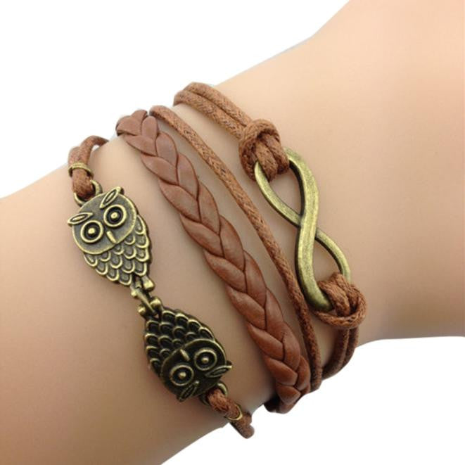 New Retro Hand-Woven Leather Chain Bracelet Multilayer Bracelet - Jewelry