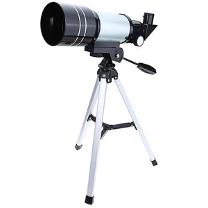 Outlife 1pc F30070M Monocular Professional Space Astronomical Telescope with Tripod Barlow Lens Eyepiece Moon Filter
