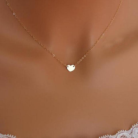 Image of Fashion Jewelry Chain Sexy Gold Love Heart Necklace Jewelry Heart - Jewelry