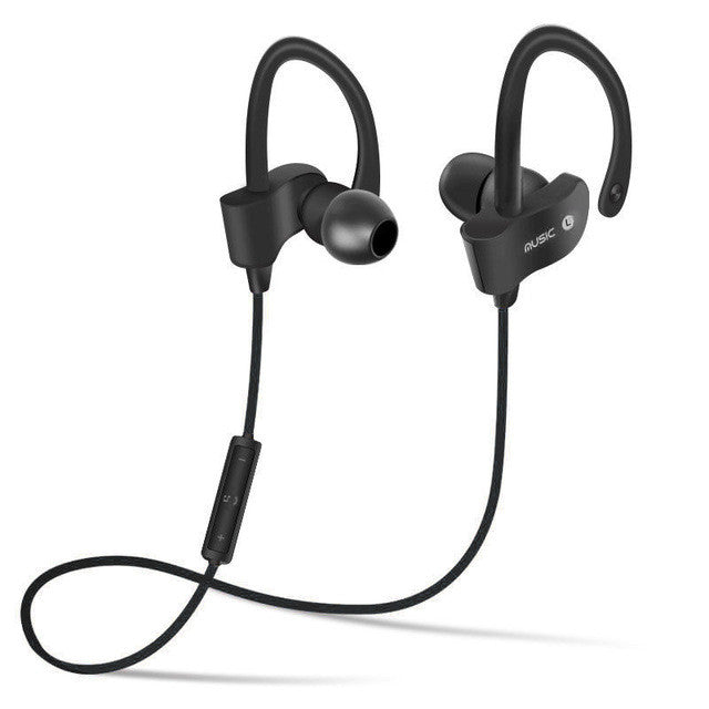 Bluetooth 4.1 Wireless Headset Stereo Music Earphones - Black - Gadgets