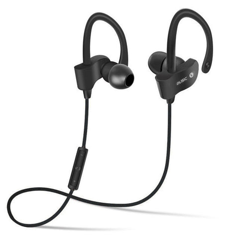 Image of Bluetooth 4.1 Wireless Headset Stereo Music Earphones - Black - Gadgets