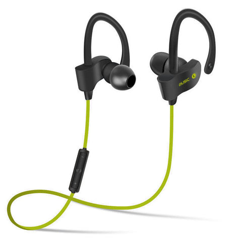 Image of Bluetooth 4.1 Wireless Headset Stereo Music Earphones - Green - Gadgets