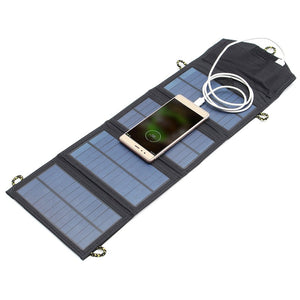 5V 7W Folding Solar Power Panel Usb Travel Camping Portable Battery Charger For Cellphone Mp3 Tablet Mobile Phone Power Bank - Gadgets