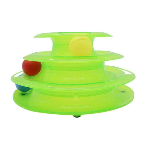 Image of Funny Pet Toys For Cats With Crazy Ball Disk - Green - Pet Products