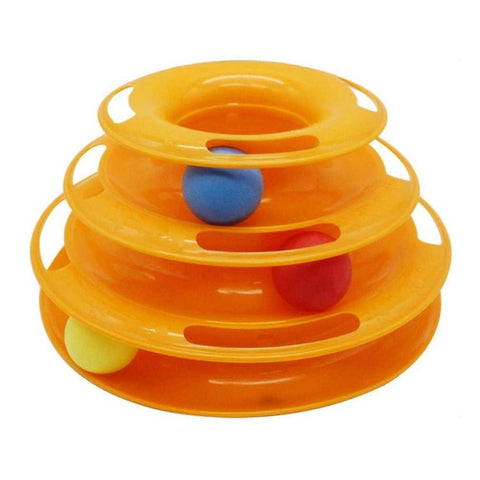 Image of Funny Pet Toys For Cats With Crazy Ball Disk - Yellow - Pet Products