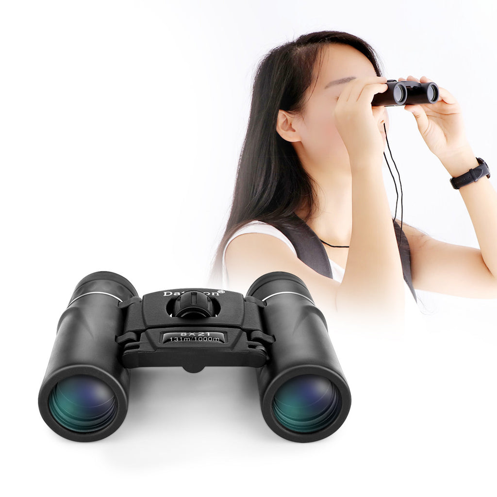 Portable Folding Mini 8X21 Binocular Telescope For Ball Game Concert Theater Opera With Green Film Multicoated Optical Glass Lens And Bk4