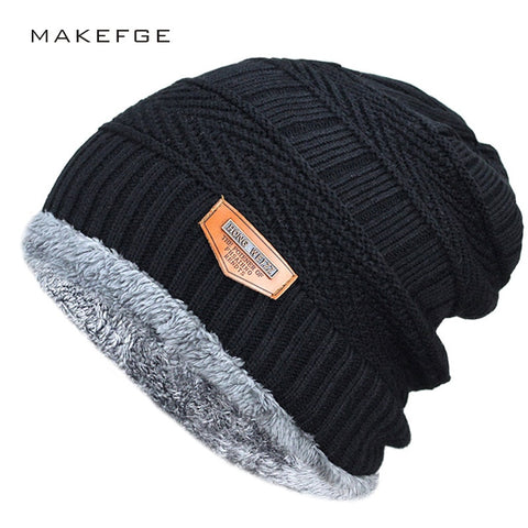 Image of Fashion Knitted Black Hats - Fashionmen