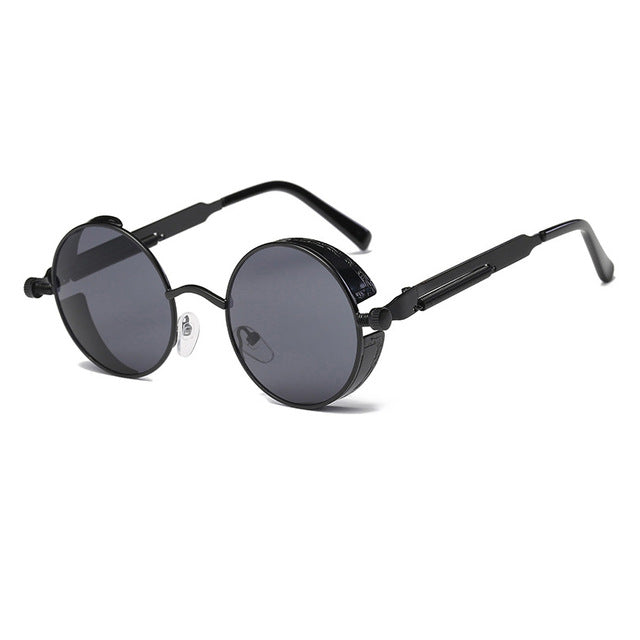 Metal Round Steampunk Sunglasses Men Women Fashion Glasses Brand Designer Retro Frame Vintage Sunglasses High Quality Uv400 - 1 - Sunglasses
