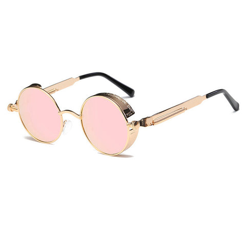Metal Round Steampunk Sunglasses Men Women Fashion Glasses Brand Designer Retro Frame Vintage Sunglasses High Quality Uv400 - 4 - Sunglasses