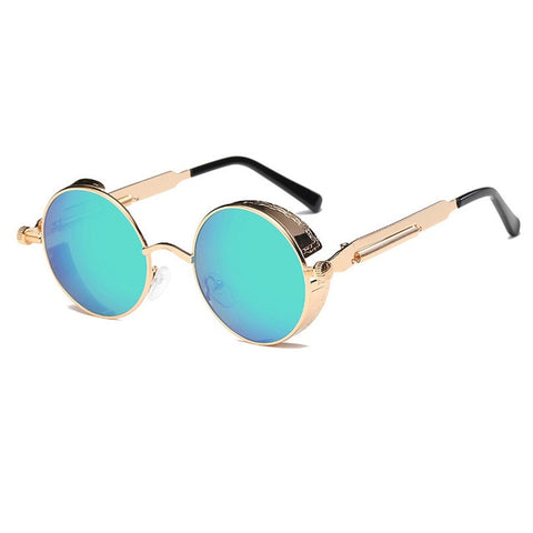 Metal Round Steampunk Sunglasses Men Women Fashion Glasses Brand Designer Retro Frame Vintage Sunglasses High Quality Uv400 - 5 - Sunglasses
