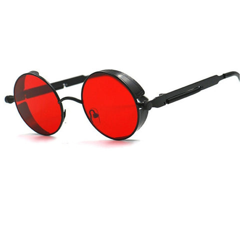 Metal Round Steampunk Sunglasses Men Women Fashion Glasses Brand Designer Retro Frame Vintage Sunglasses High Quality Uv400 - 8 - Sunglasses