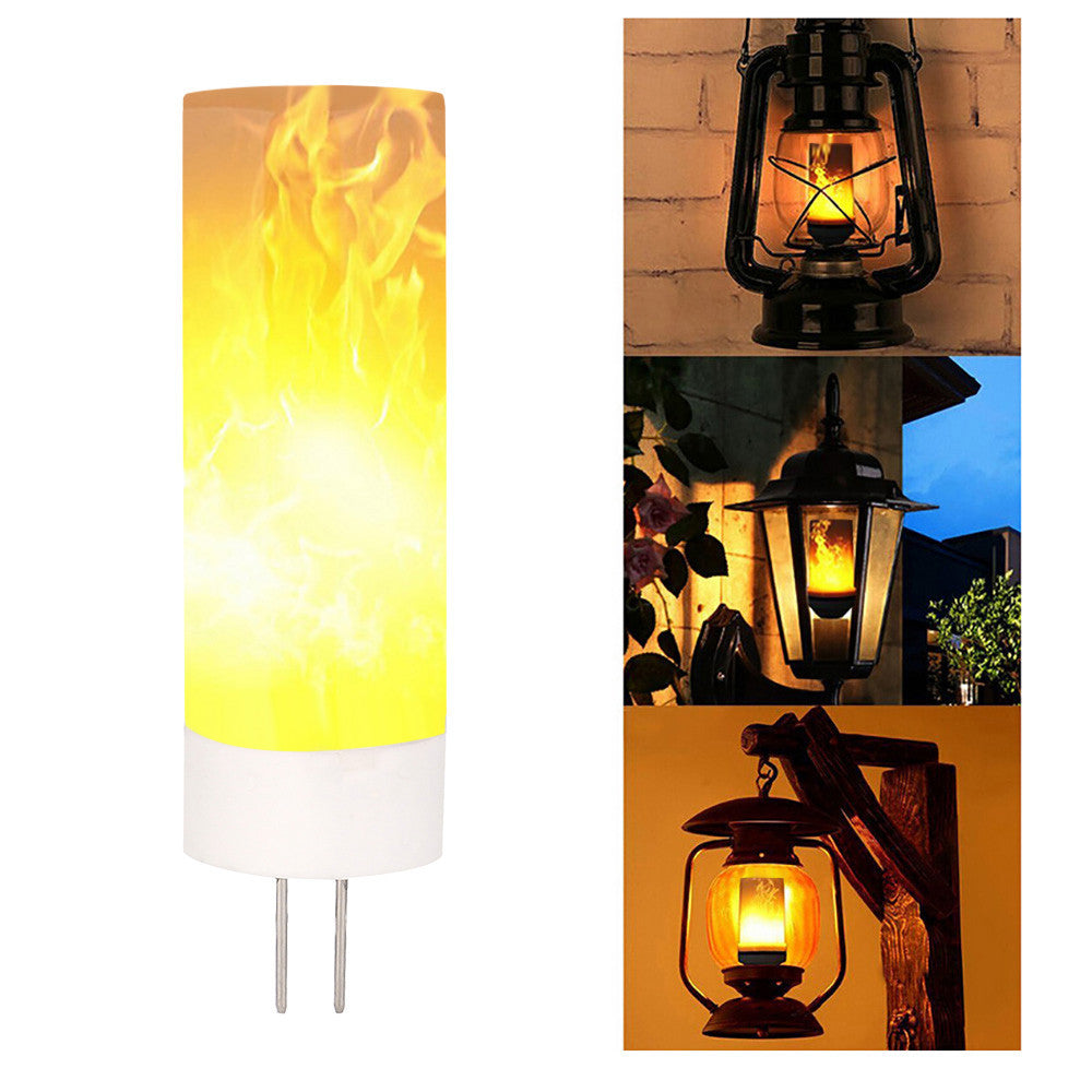 Led Flame Fire Light Effect Simulated Nature Corn Bulbs Decoration Lamp - Flame Lamp