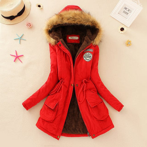 Image of Best Parkas For Winter For Women - Red / S - Fashionwomen