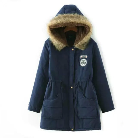 Image of Best Parkas For Winter For Women - Dark Blue / S - Fashionwomen