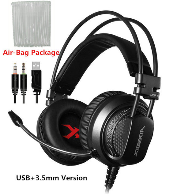 Best Computer Gaming Headset With Microphone - Gray Usb With 3.5Mm / China - Gadgets