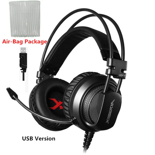 Best Computer Gaming Headset With Microphone - Gray Usb Version / China - Gadgets