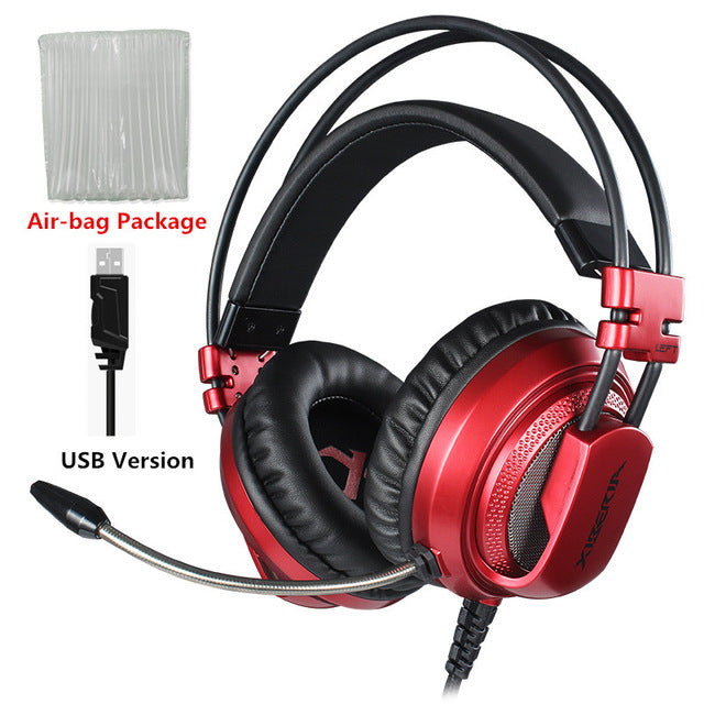 Best Computer Gaming Headset With Microphone - Red Usb Version / China - Gadgets