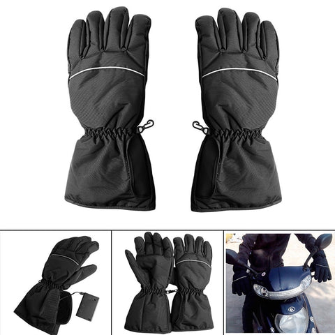 1 Pair Waterproof Heated Gloves Battery Powered