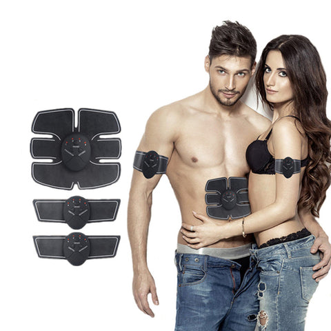 Image of Wireless Muscle Stimulator Ems Stimulation Body Slimming Beauty Machine Abdominal Muscle Exerciser Training Device Body Massager - Gadgets