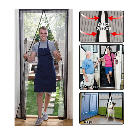 Image of Magnetic Mesh Insect Screen Door - Gadgets